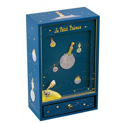Caja de Música El Principito y Los Planetas. Magnética