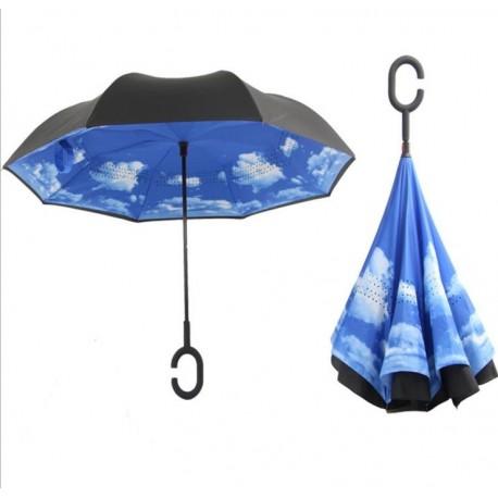 Paraguas Inverso Nubes
