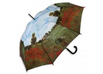 Paraguas Amapolas Monet automático