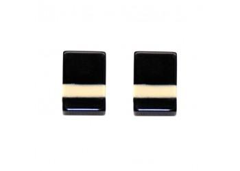 Pendientes Acetato rectangular rayas