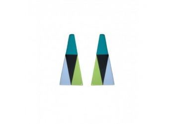 Pendientes Acetato Triángulo Metrópolis
