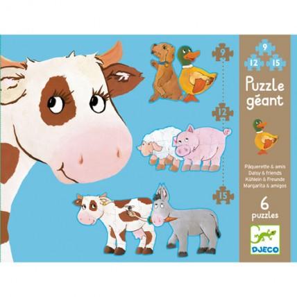 Puzzle Progresivo Animales Granja