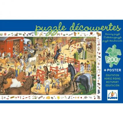 Puzzle Descubrir Equitación
