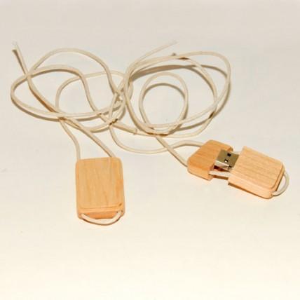 Memoria USB Collar Madera